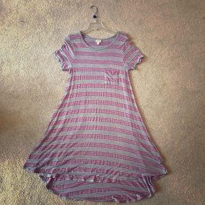 LuLaRoe Short Sleeve Carly High- Low Dress